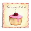 "iCanvas ""Cherry Cupcake"" Canvas Wall Art by Jennifer Nilson"