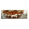 iCanvas Panoramic Carousel Horses in an Amusement Park, Seattle Center Photographic Print on Canvas