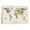 iCanvas 'Animal Map of The World' II by Michael Tompsett Graphic Art on Canvas
