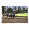 iCanvas At the Race Track Photographic Print on Canvas