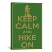 iCanvas Keep Calm and Hike On Textual Art on Canvas