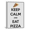 iCanvas Keep Calm and Eat Pizza Textual Art on Canvas