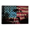 iCanvas Firefighters Vintage Fire Truck USA Flag Graphic Art on Canvas
