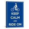 iCanvas Keep Calm and Ride On Textual Art on Canvas