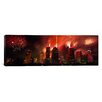 iCanvas Panoramic Fireworks over Buildings in a City Houston, Texas Photographic Print on Canvas