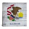 iCanvas Illinois Flag Graphic Art on Canvas