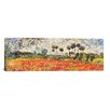 """iCanvas """"Field of Poppies"""" by Vincent van Gogh Painting Print on Wrapped Canvas"""