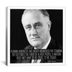 iCanvas Franklin D. Roosevelt Quote Canvas Wall Art