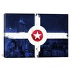 iCanvas Indianapolis Flag, City Skyline Graphic Art on Canvas
