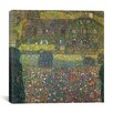 """iCanvas """"County Houseby the Attersee"""" Canvas Wall Art by Gustav Klimt"""