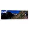 iCanvas Panoramic Hikers Hiking on a Mountain, U.S. Glacier National Park, Montana Photographic Print on Canvas