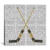 iCanvas Canada Hockey Sticks Graphic Art on Canvas