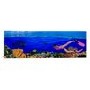 iCanvas Panoramic Diver Along Reef Underwater Photographic Print on Canvas