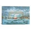 iCanvas 'Edmund Fitz Leaving Dock' by Stanton Manolakas Painting Print on Canvas