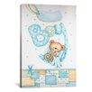 iCanvas Kids Children It's a Boy with Teddy Bear Painting Print Canvas Wall Art