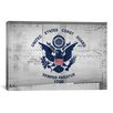 iCanvas Coast Guard Flag, Metal Rivets with Splatters Graphic Art on Canvas