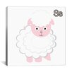 iCanvas Kids Children S is for Sheep Canvas Wall Art