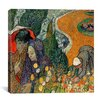 """iCanvas """"Memory of the Garden at Etten (Ladies of Arles)"""" Canvas Wall Art by Vincent van Gogh"""