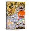 iCanvas Islamic Man with a Saluki Islamic Painting Print on Canvas