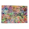 iCanvas 'London Map Watercolor II' by Michael Tompsett Graphic Art on Canvas