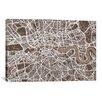 iCanvas 'London Map VII' by Michael Thompsett Graphic Art on Canvas