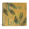 "iCanvas ""Live, Lough and Love"" Canvas Wall Art by Marcus Jules"