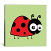 iCanvas Kids Art Lady Bug Canvas Wall Art