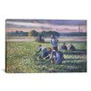 iCanvas 'Picking Peas' by Camille Pissarro Painting Print on Canvas