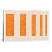 iCanvas Modern Art Orange Levies Painting Print on Canvas