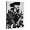 iCanvas Photography 'Monkey in Graduation Outfit' Photographic Print on Canvas