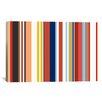 iCanvas Retro Hemptons Striped Graphic Art on Canvas