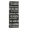 iCanvas Typography 'Rome Streets From Willow Way Studios, Inc' Textual Art on Canvas