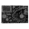 iCanvas Antique Maps of Nova Zembla and The Northeast Passage (1601) by Datoteca Graphic Art on Canvas in Black