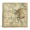 iCanvas Celestial Atlas - Plate 14 (Taurus) by Alexander Jamieson Graphic Art on Canvas in Beige