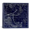 iCanvas Celestial Atlas - Plate 12 (Pegasus, Equuleus) by Alexander Jamieson Graphic Art on Canvas in Blue