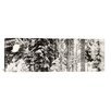 iCanvas Panoramic Snow Covered Evergreen Trees at Stevens Pass, Washington State Photographic Print on Canvas in Black/White