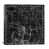 iCanvas Celestial Atlas - Plate 20 (Sagittarius) by Alexander Jamieson Graphic Art on Canvas in Black