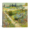 """iCanvas """"The Garden at Arles"""" by Vincent Van Gogh Painting Print on Wrapped Canvas"""