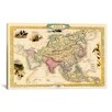 iCanvas 'Antique Map of Asia (1851)' by John Tallis Graphic Art on Canvas