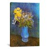 iCanvas 'Vase of Lilacs, Daisies, and Anemones' by Vincent Van Gogh Painting Print on Canvas