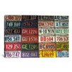 iCanvas Photography State License Plates Textual Art on Canvas