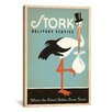 iCanvas Anderson Design Group Stork Delivery Service Graphic Art on Canvas