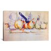 iCanvas 'Still Life with Saucepan, 1902' by Paul Cezanne Painting Print on Canvas