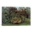 iCanvas 'The Hungry Lion Throws Itself on the Antelope 1905' by Henri Rousseau Graphic Art on Canvas