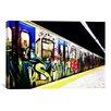 iCanvas Train Graffiti Canvas Wall Art