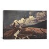 iCanvas 'Woodsman and Fallen Tree 1891' by Winslow Homer Painting Print on Canvas