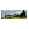 iCanvas 'Wheatfield with Cypresses 1889' by Vincent Van Gogh Painting Print on Canvas
