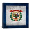 iCanvas Flags West Virginia Grunge Graphic Art on Canvas