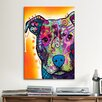 iCanvas 'Heart U Pit Bull' by Dean Russo Graphic Art on Canvas