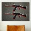 iCanvas 'AK47 Assault Rifle' by Michael Tompsett Painting Print on Canvas
